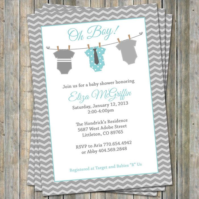 Onesie Baby shower Invitation oh baby by freshlysqueezedcards, $13.00
