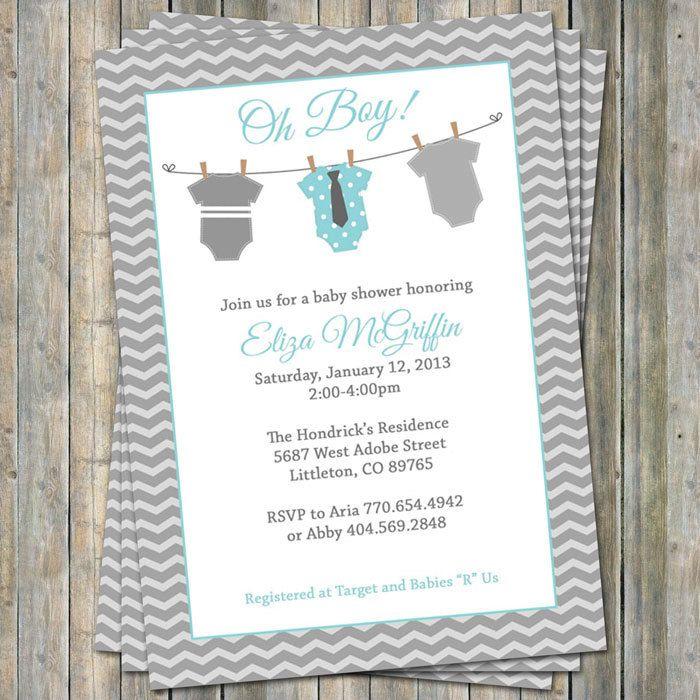 Onesie Baby shower Invitation oh baby by freshlysqueezedcards, $13.00