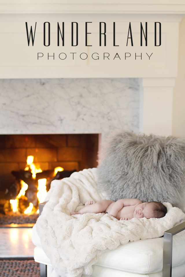 Wonderland Photography | Hamptons newborn photographer. Cozy newborn by the fireplace!