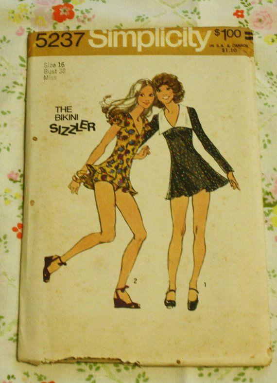 Simplicity 5237 Vintage Sewing Pattern Bikini by EleanorMeriwether, $12.00