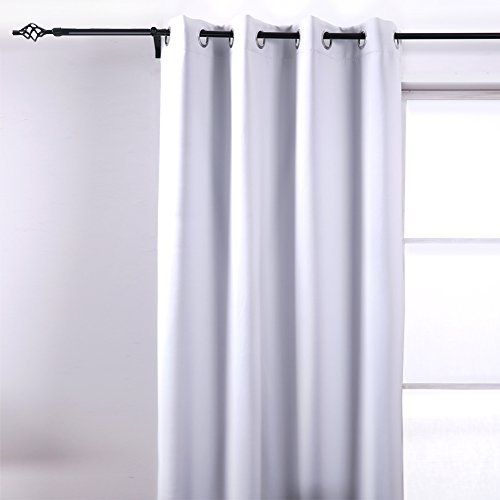 Deconovo Room Darkening Insulated Thermal Blackout Grommet Window Curtain Panel Grey White For Kids Room,52x84-Inch - Top Blackout Curtains