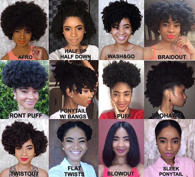 Natural Hair Versatility By @VanLenore  What's your favorite style to do? (Tag A Friend)