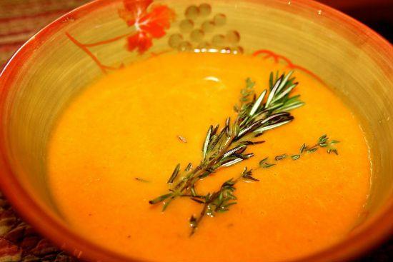 морковный суп пюре с имбирем фото