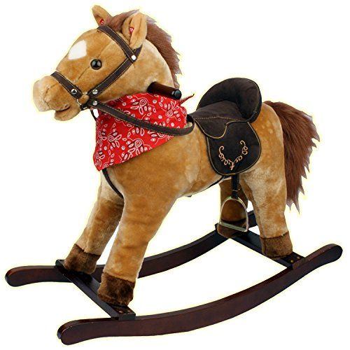 #PopularKidsToys Just Added In New Toys In Store!Read The Full Description & Reviews Here - TAN KIDS ROCKING HORSE PONY MOVING MOUTH SOUNDS CHILDREN BOYS GIRLS - Clip clopping into little ones hearts, this rocking horse has a super soft padded body and faux leather saddle to emulate the real riding experience. The rocking horse is suitable for kiddies age three and over, who can delight at the moving mouth, and even squeeze an ear for realistic sounding galloping and braying.