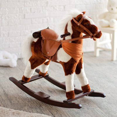 Charm Pinto Plush Rocking Horse with Sound - 82191