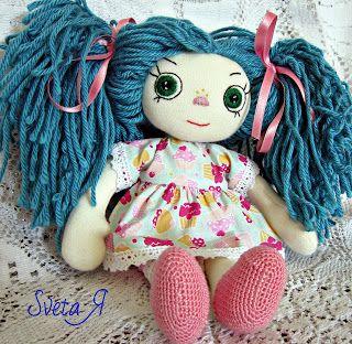 ΥΠΕΡΟΧΕΣ ΔΗΜΙΟΥΡΓΙΕΣ: Мальвинка - 2. Текстильная коллекционная кукла.