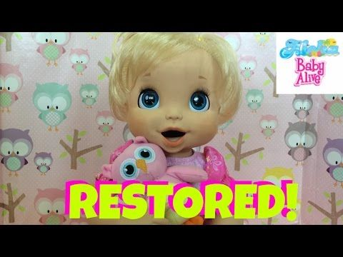Baby Alive 2006 Restored! How to Remove Black Ink Stains Off of Your 2006 Soft Face silicone Doll - YouTube
