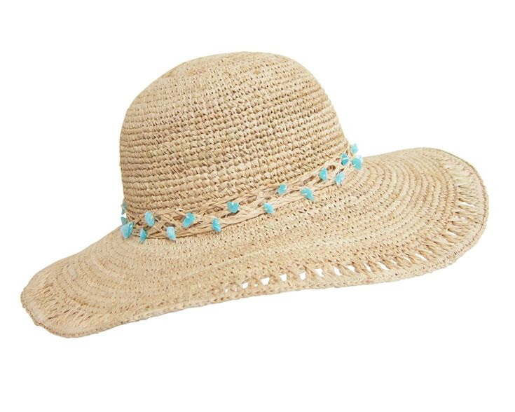 Crochet Raffia Sun Hat Organic Straw-Dynamic Asia