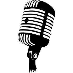 Retro Micro - Ein altes Mikrofon wie aus den 60er bzw 70er Jahren in einer Disco.