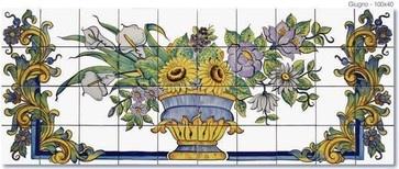 Custom Tile - mediterranean - artwork - boston - ITALIAN DECORATIVE ART by Romeo Cuomo