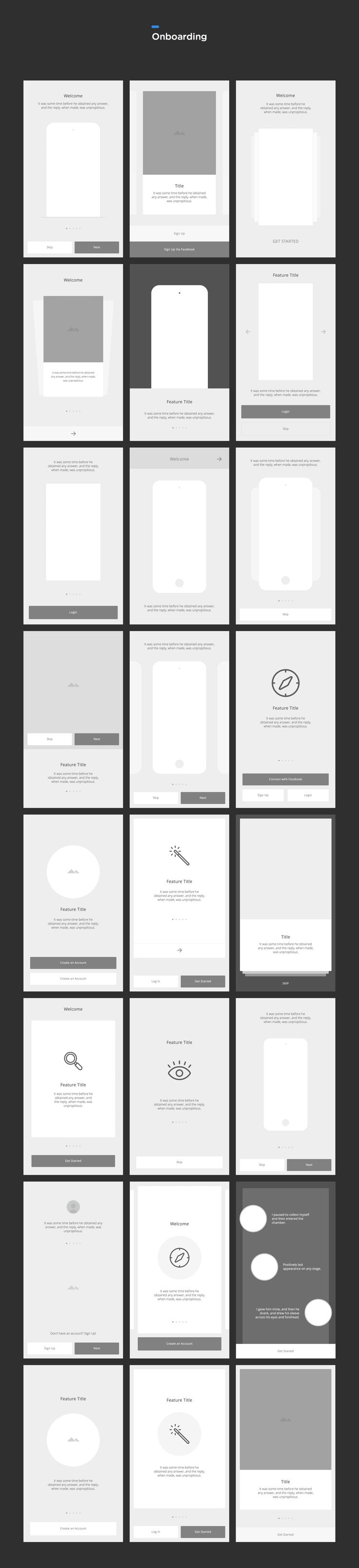 A consistent and meticulously organized set of vector-based wireframe components to quickly bring your iOS and Android app ideas to life. Think of it as your wireframing workflow, on steroids.