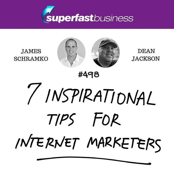 Grab the PDF guide on the 7 Inspirational Tips for Internet Marketers on the #SuperFastBusiness blog. Link in bio.  #SuperFastBusinessPodcast http://www.superfastbusiness.com