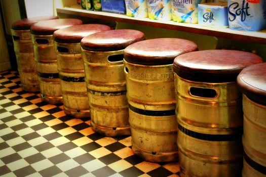 Westport, Co. Mayo - Moran's Guinness Keg Stools