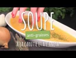 Soupe anti-graisse de carottes à l'aneth