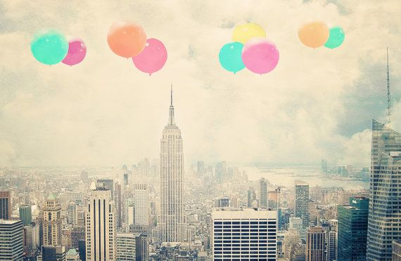Balloons Over New York City 8x10 photograph by maybesparrowsplace