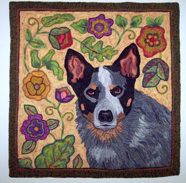 Rug Dogs Embroidery Designs: 29 Best Hooked Rugs-dogs Images On Pinterest