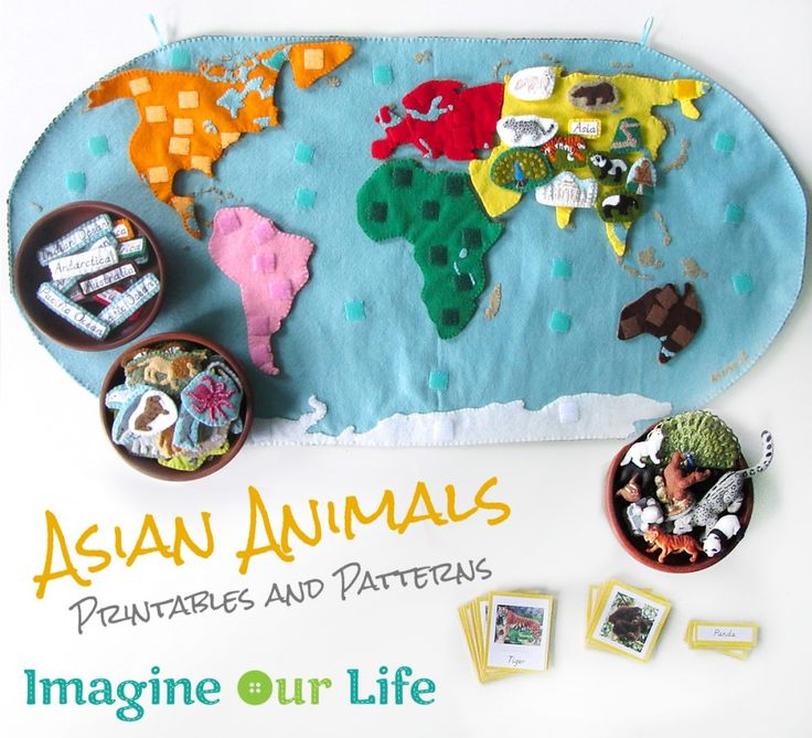 Animals of Asia for the Montessori Wall Map & Quietbook with Printables from Imagine Our Life