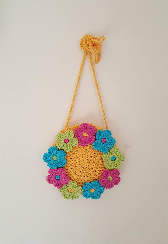 Ring of Flowers Handbag crochet purse bag girl girls