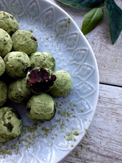 Truffes de thé vert et chocolat