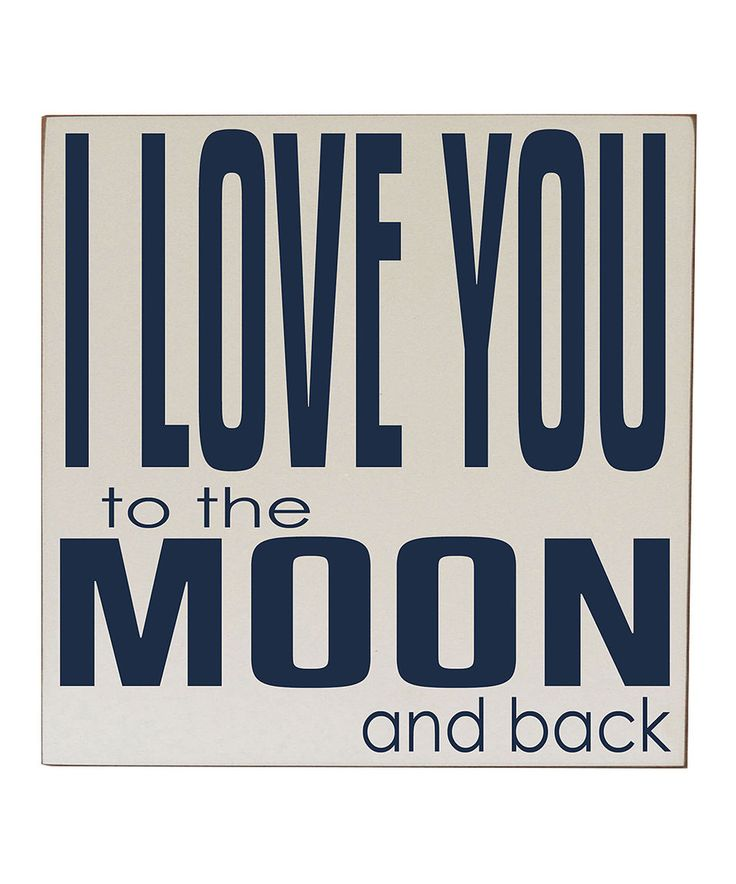 Take a look at this Cream & Navy 'Love You to the Moon' Wall Sign today!