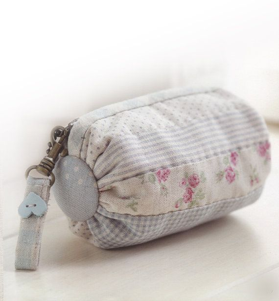 How to make roll purse cosmetic Bag Handbag Wallet hand embroidery sewing applique patchwork quilt PDF pattern E Patterns ebook