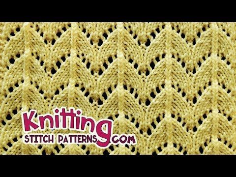 Lace Knitting #28: I would like to share a lace pattern – the Horseshoe stitch. ■ For detailed written instructions, see: http://www.knittingstitchpatterns.c...