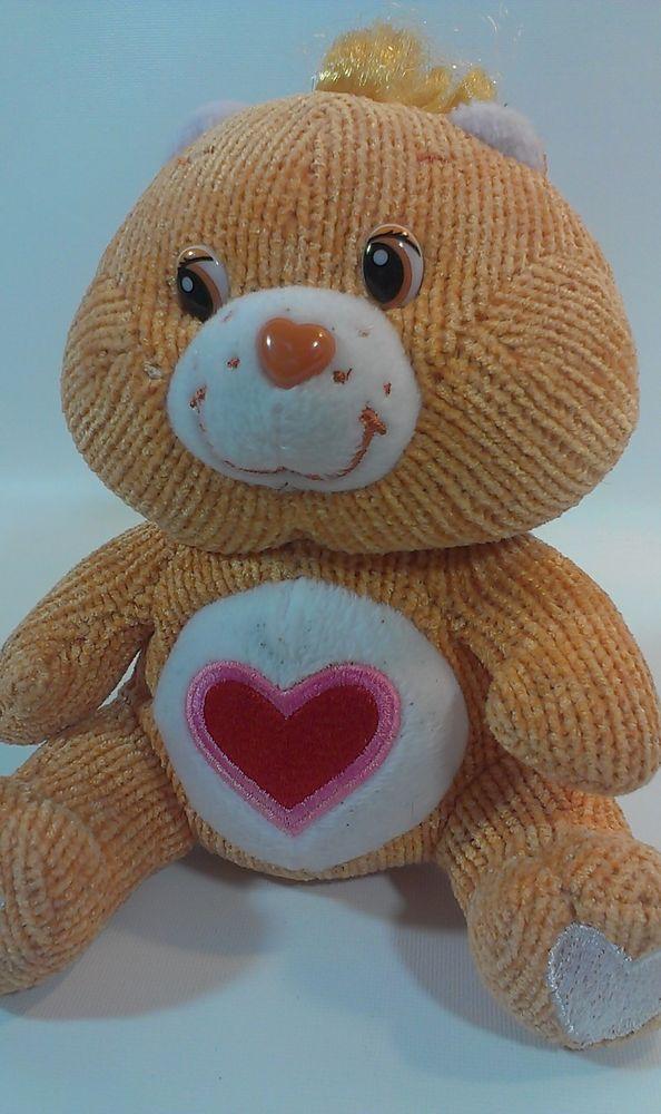 """Care Bears Tenderheart Teddy Care Bear Beanie Stuffed Animal Plush Corduroy* 7""""  #CareBears"""