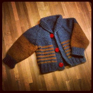 Children's cardigan - unisex - change the colors for boys or girls.