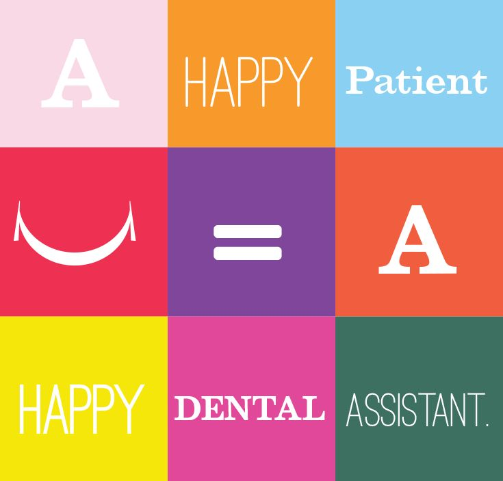 The math is easy. Happy Patient = Happy Dental Assistant.  #DentalAssistant #DentalAssisting