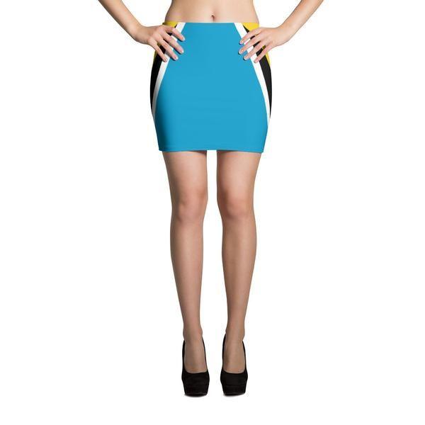 St. Lucia Flag - Mini Skirt