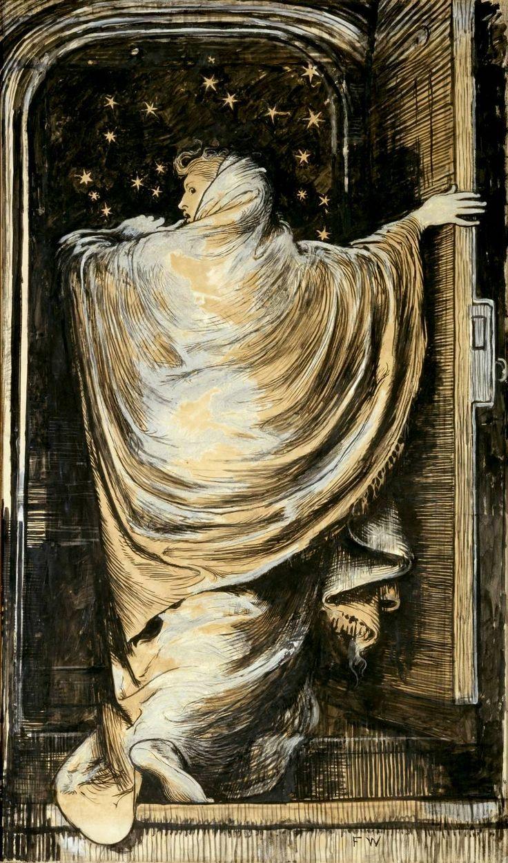 The Woman in White, Frederick Walker (1871): The Women, Frederick Walker, Wilki Collins, White 1871, Art Inspiration, Woman, Walker 1871, Illustration, Poster