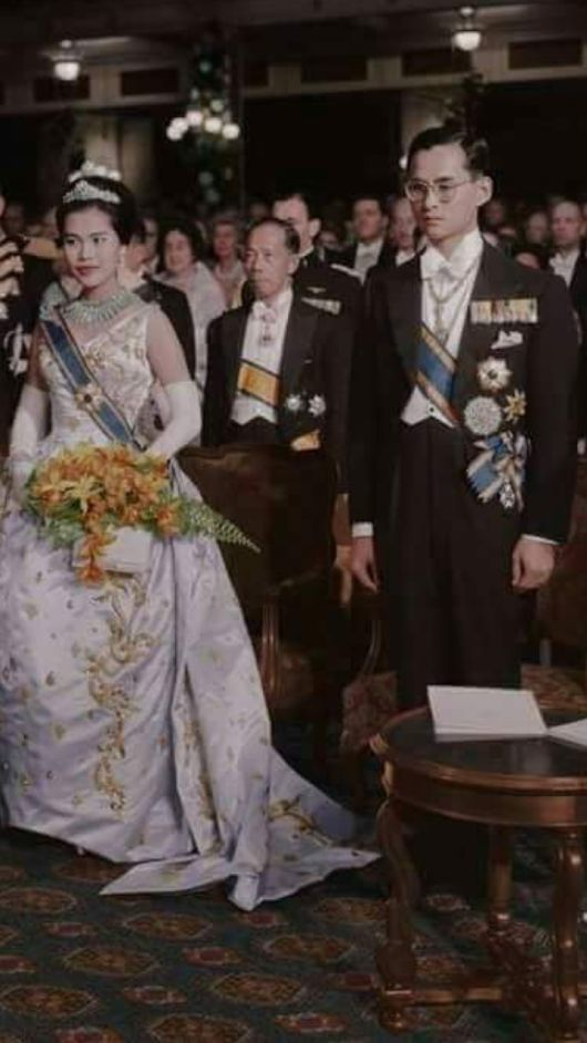 His Majesty King Bhumibol Adulyadej and Her Majesty Queen Sirikit