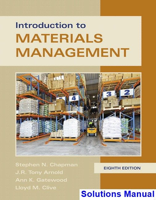 Introduction To Materials Management 8th Edition Chapman