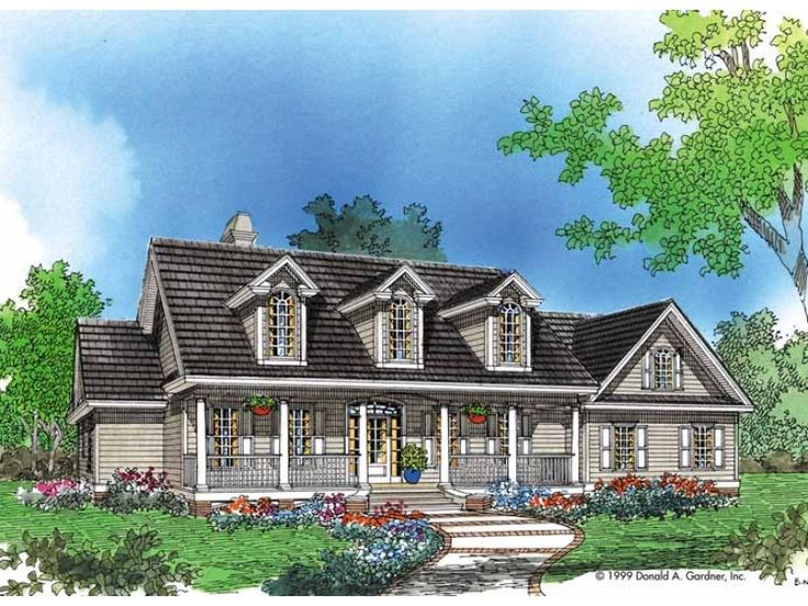 eplans farmhouse house plan classic cathedral ceilings 2195 square feet and 4 bedrooms from eplans house plan code hwepl06883 home pinterest - Classic Farmhouse Plans