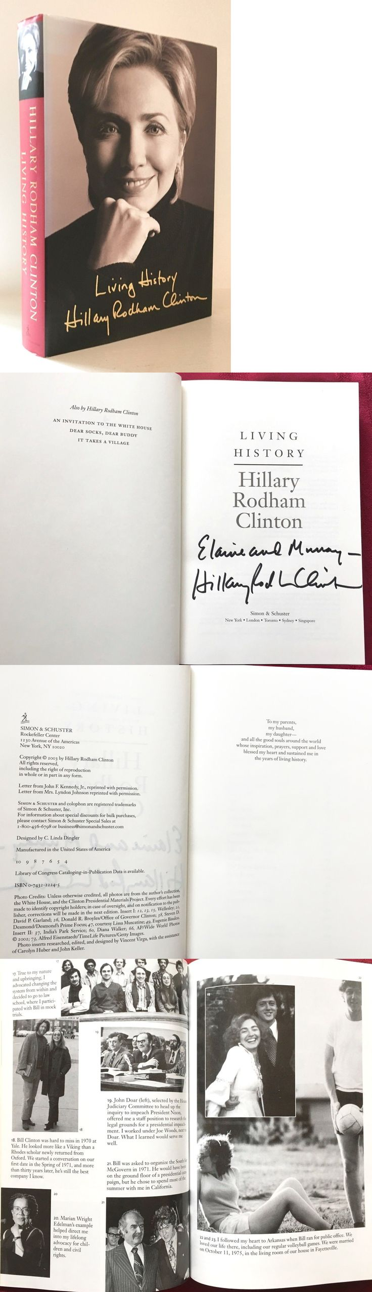 Hillary Clinton: Hillary Clinton Signed Book Living History. Excellent. -> BUY IT NOW ONLY: $19.95 on eBay!