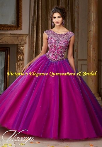 181d0b25c83 Embroidery and Beading on a Tulle Ball Gown ML 60016 – Victoria s Elegance  Quinceañera   Bridal