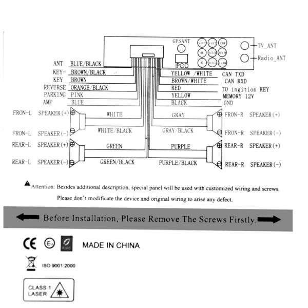 10 Panasonic Car Dvd Player Wiring Diagram Car Diagram Wiringg Net Black Yellow And White Black And Red Orange Black