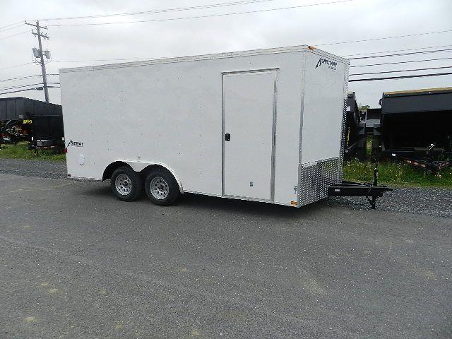 Homesteader 8.5 x 16 V-Nose Enclosed Car Hauler