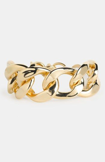 Natasha Couture 'Large' Chain Link Bracelet available at #Nordstrom (in gold)