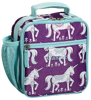 We know a few girls who are coveting this unicorn lunch bag from PBK: Plum Unicorn, Coolest Lunchboxes, Lunches, Unicorn Lunch, Lunch Bags, Bags Pbkids, Unicorns, Mackenzie Plum