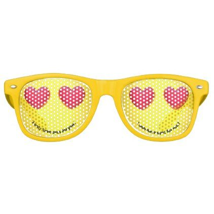 #Emoji Emoticon with Heart Eyes - Party Shades - #emoji #emojis #smiley #smilies