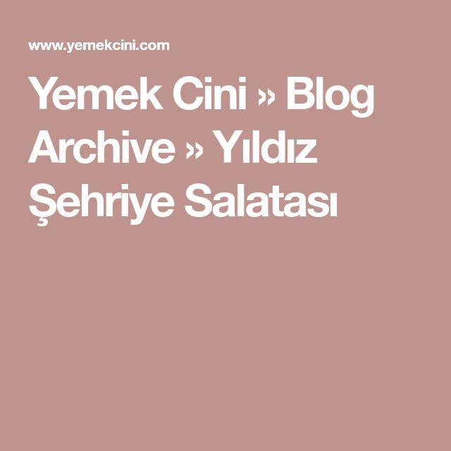 Yemek Cini » Blog Archive » Yıldız Şehriye Salatası