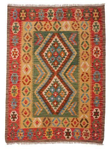 kilim - Kilim Afegão 141x105 cm.