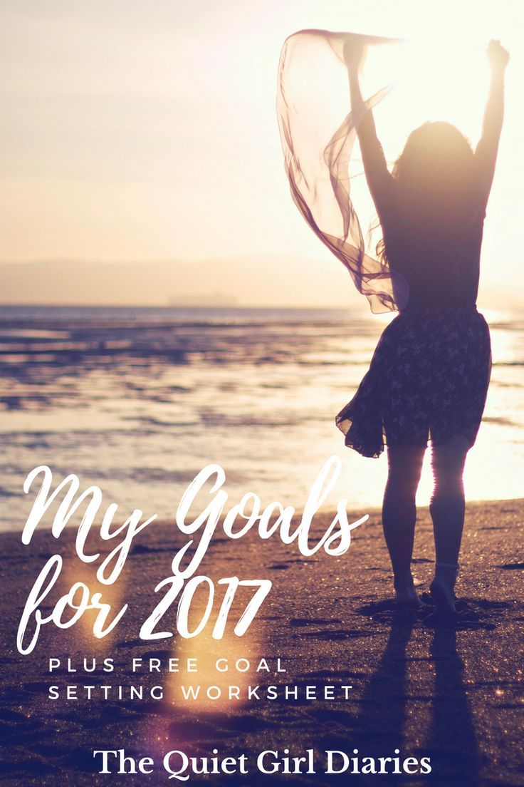 Ready to set some amazing goals for 2017?! Click through to check out my goals and download a free worksheet to help you set your own! via Quiet Girl Diaries