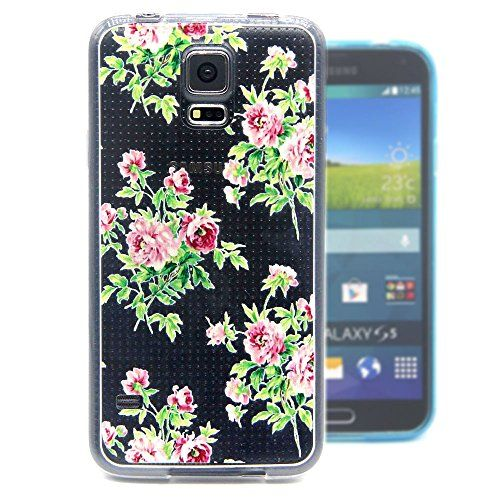"""For Galaxy S5 /S5 Neo , ivencase Beautiful Flowers Pattern Soft TPU Gel Flexible Rear Protective Case Cover Perfect Fit for Samsung Galaxy S5 SV + One """"ivencase """" Anti-dust Plug Stopper ivencase http://www.amazon.ca/dp/B0144LNA16/ref=cm_sw_r_pi_dp_K3eEwb0A7FPSA"""
