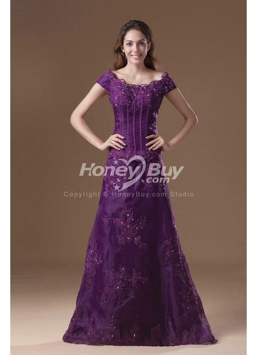 17 best images about purple formal gowns on pinterest for Purple lace wedding dress