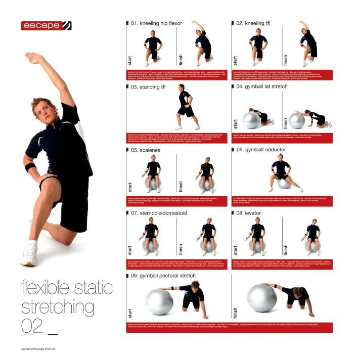 Male Static Stretching Chart | Pinterest | Exercise ...
