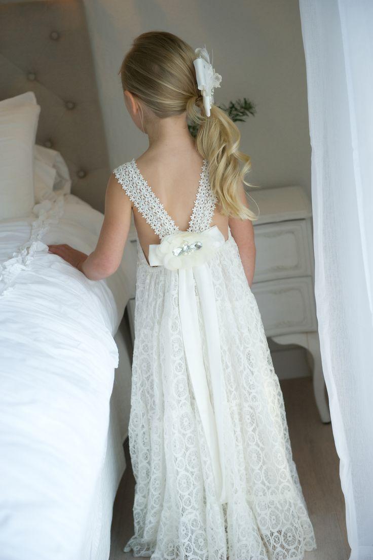 Tea Princess Lace Flowergirl Dress