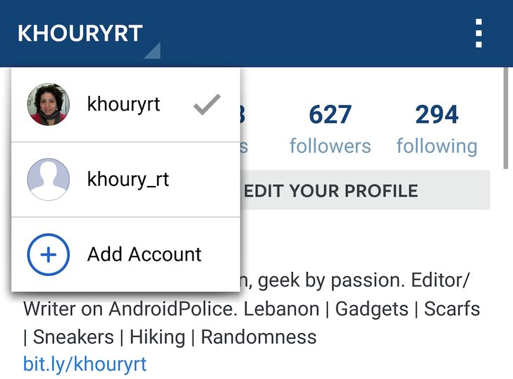 Instagram multiaccount