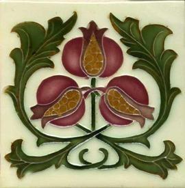 Art Nouveau-style tile by Porteous Tile